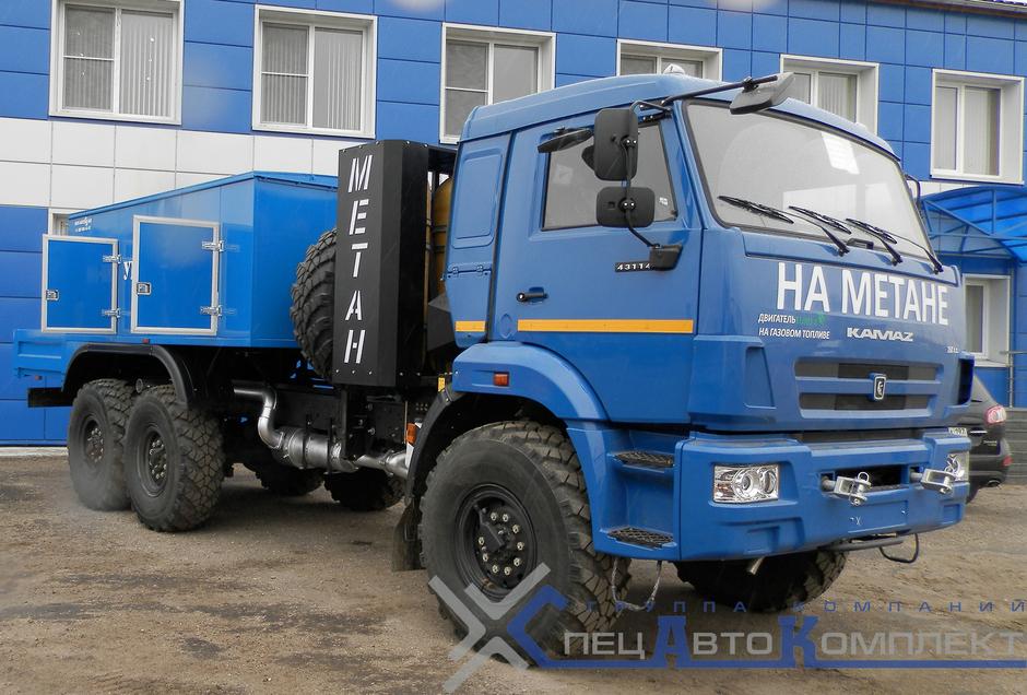 УМП-400-Г1 на газомоторном шасси КАМАЗ